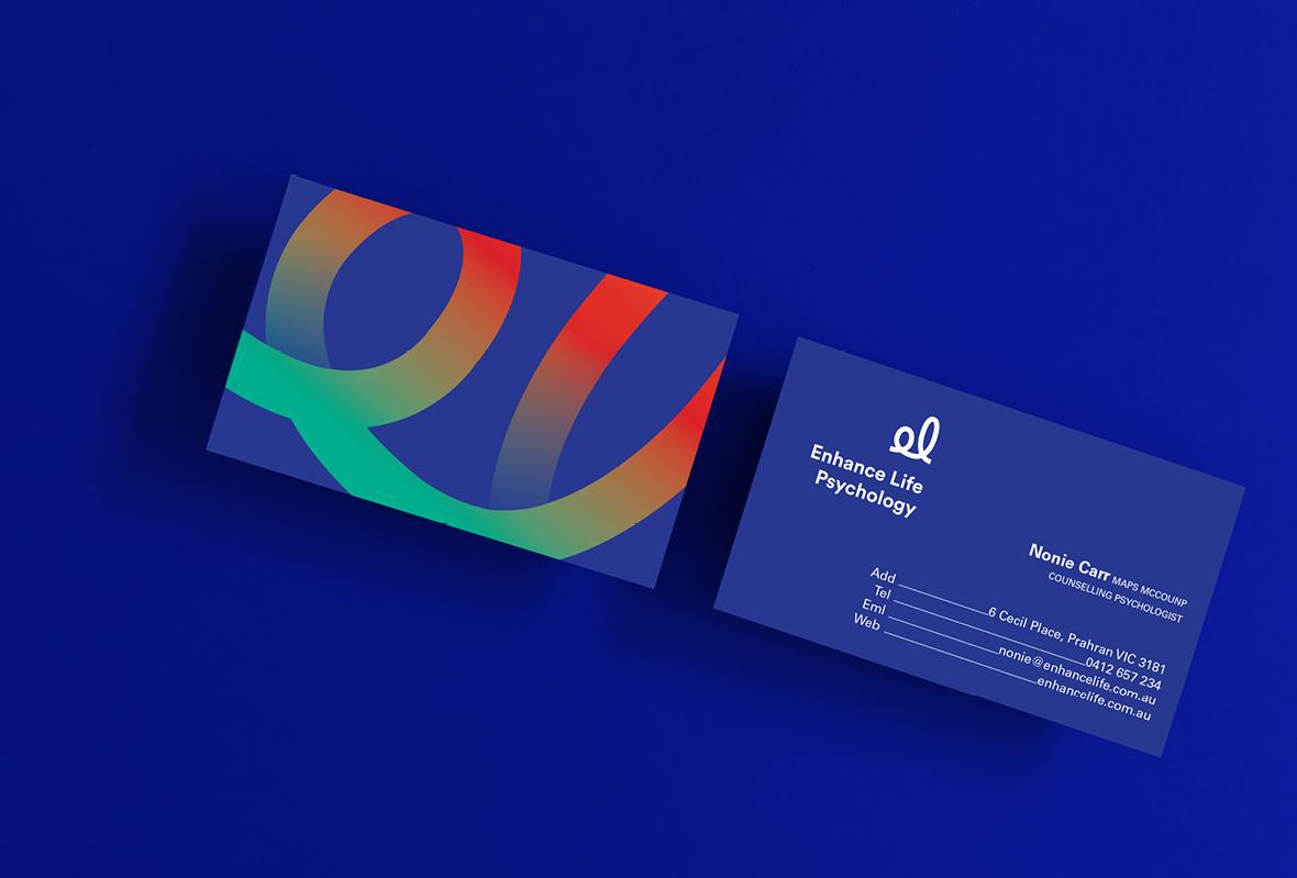 Business card design for Enhance Life Psychology