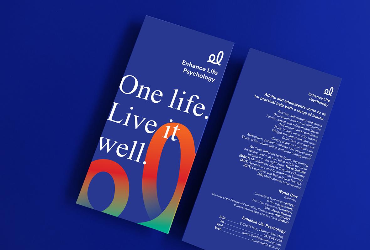 Flyer design for Enhance Life Psychology
