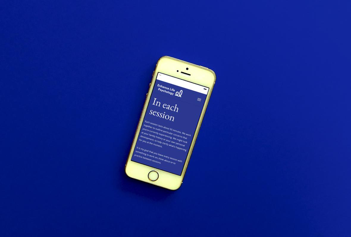 Mobile website for Enhance Life Psychology