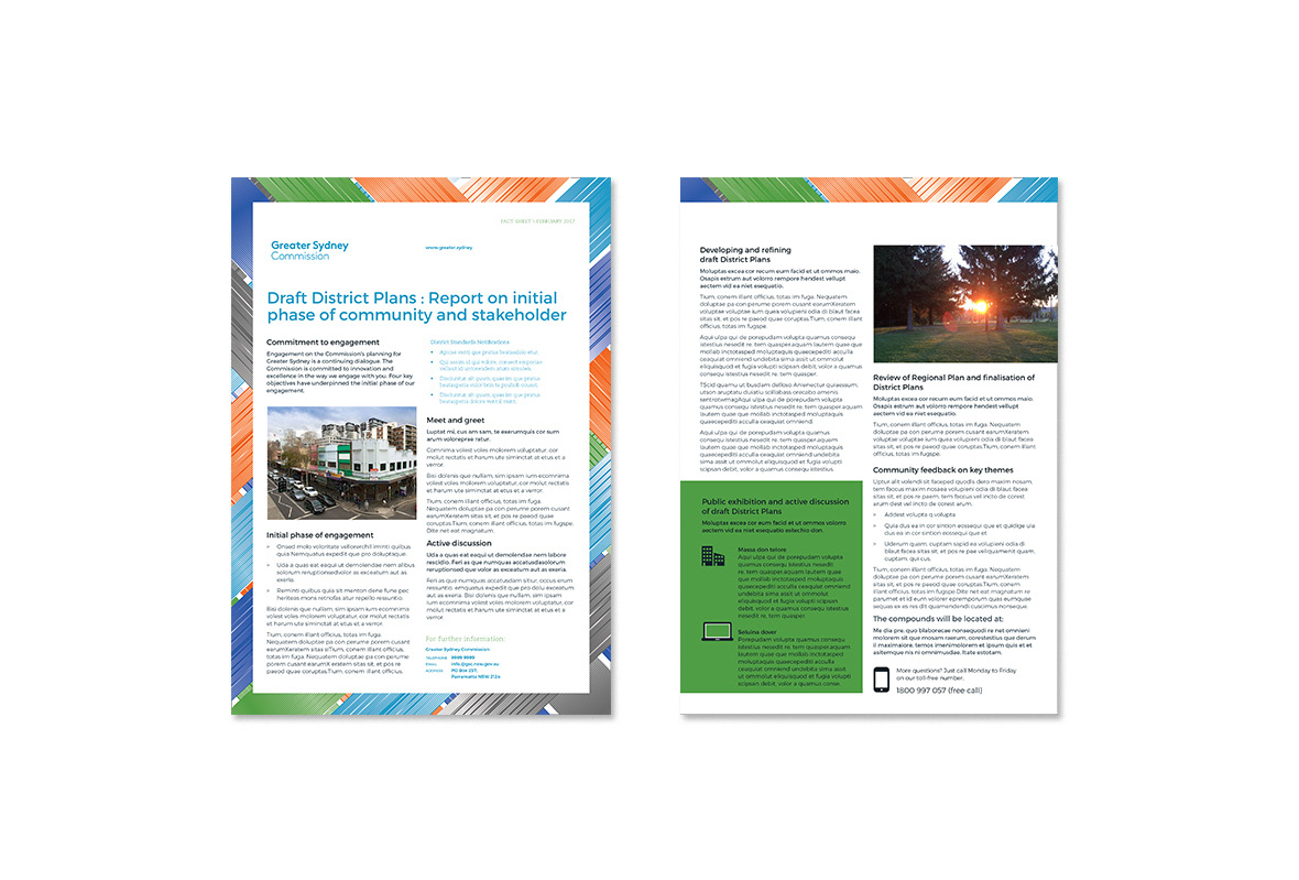 Information sheet for Greater Sydney Commission