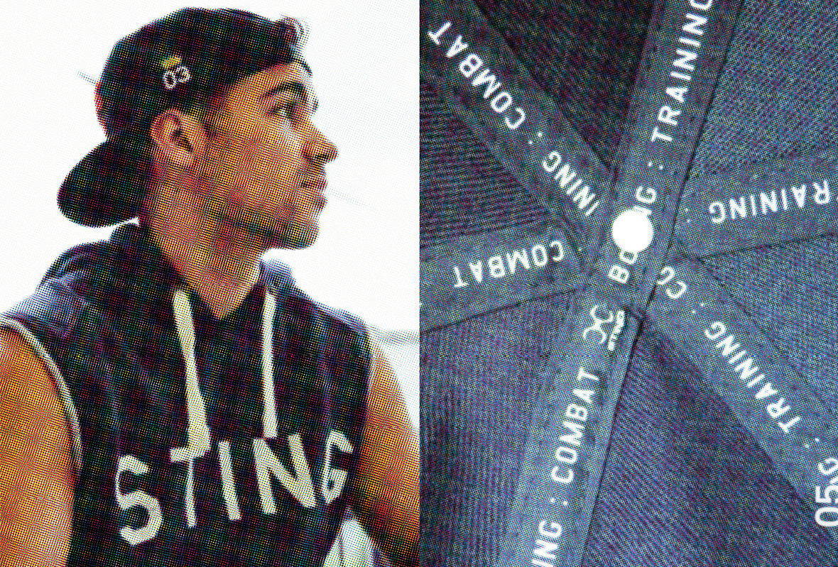 Lookbook for Sting International with men's sleeveless hoodie