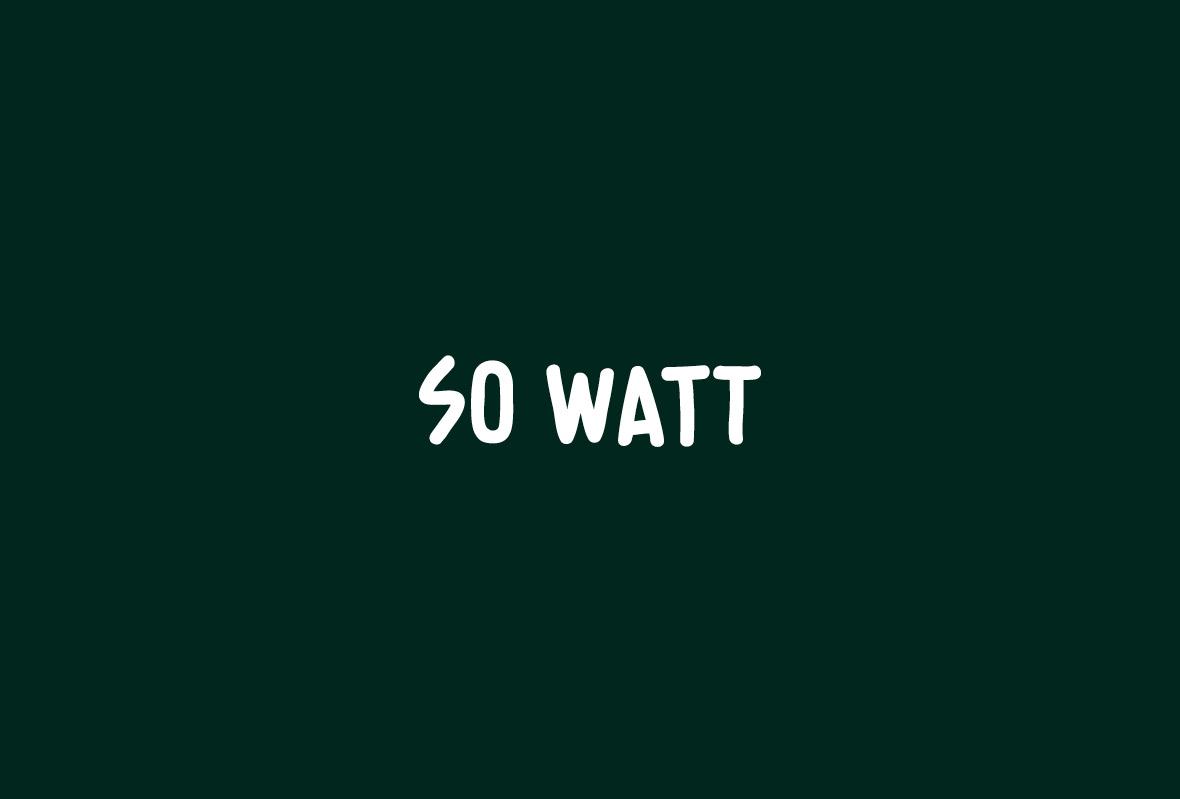 Logo for So Watt industrial designers