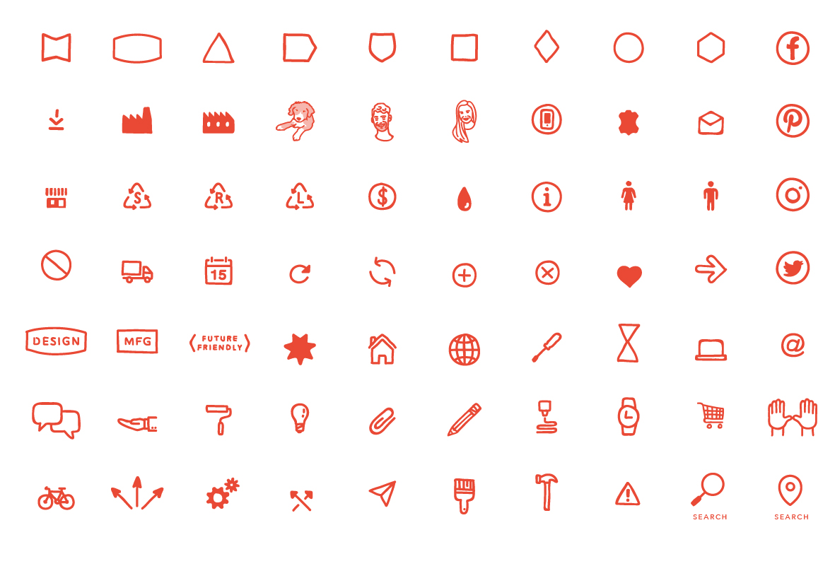 Original icons for So Watt industrial designers