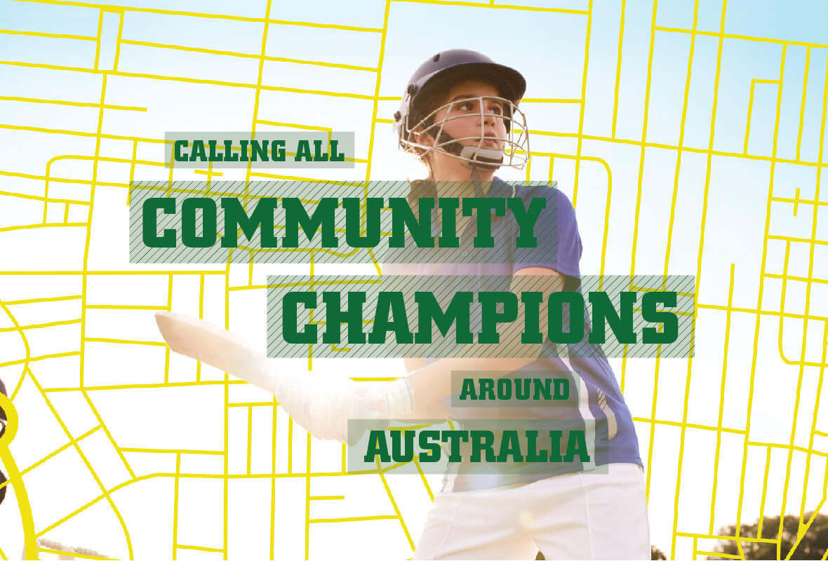 Community Champions poster design 1, Cricket Australia