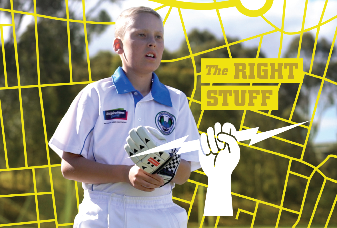 Community Champions poster design 3, Cricket Australia
