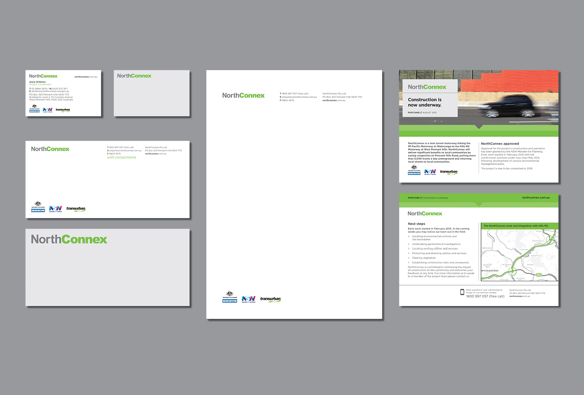 Corporate stationery for NorthConnex