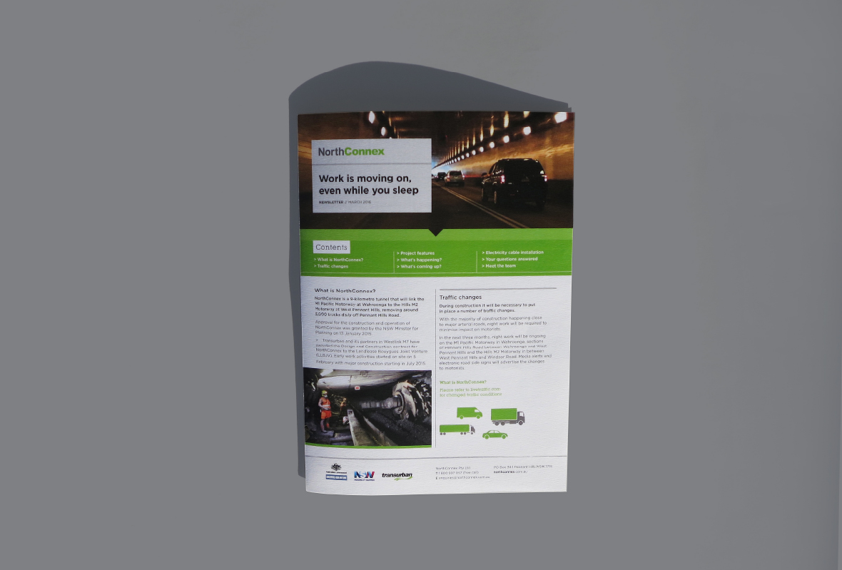 Newsletter design for NorthConnex