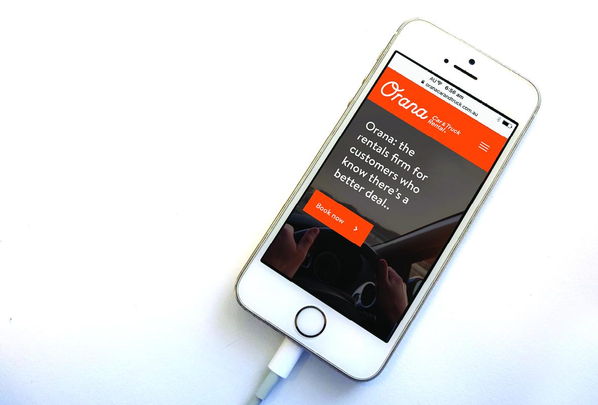 Mobile website for Orana Car & Truck Rentals