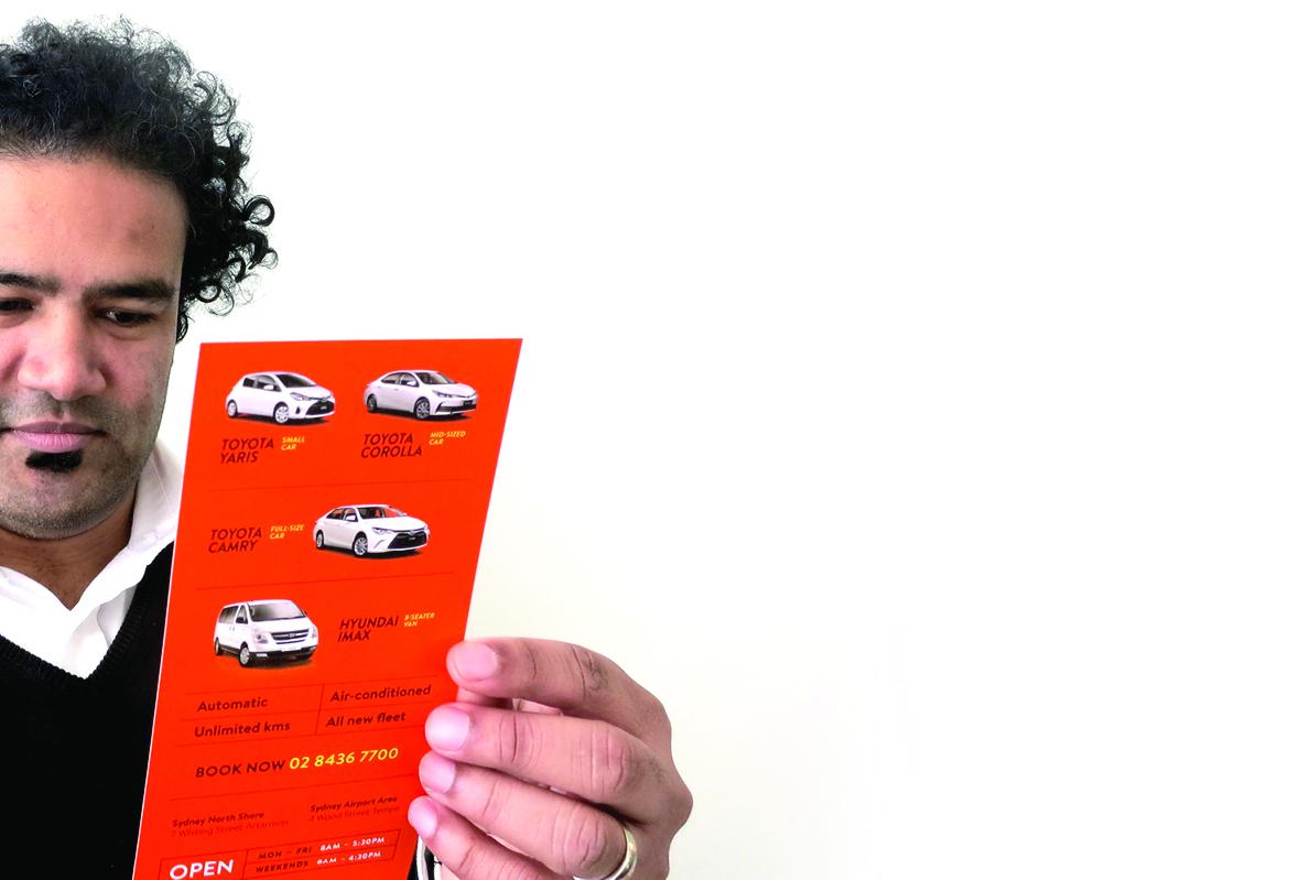 Flyer for Orana Car & Truck Rentals