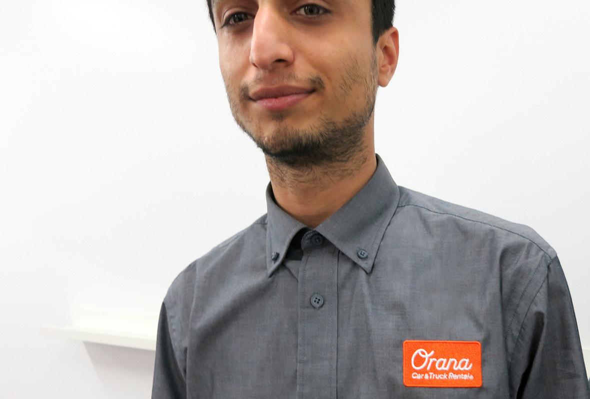 Staff uniform closeup for Orana Car & Truck Rentals