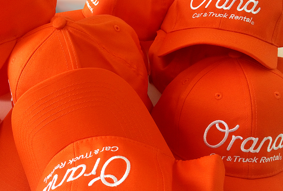 Staff hats for for Orana Car & Truck Rentals