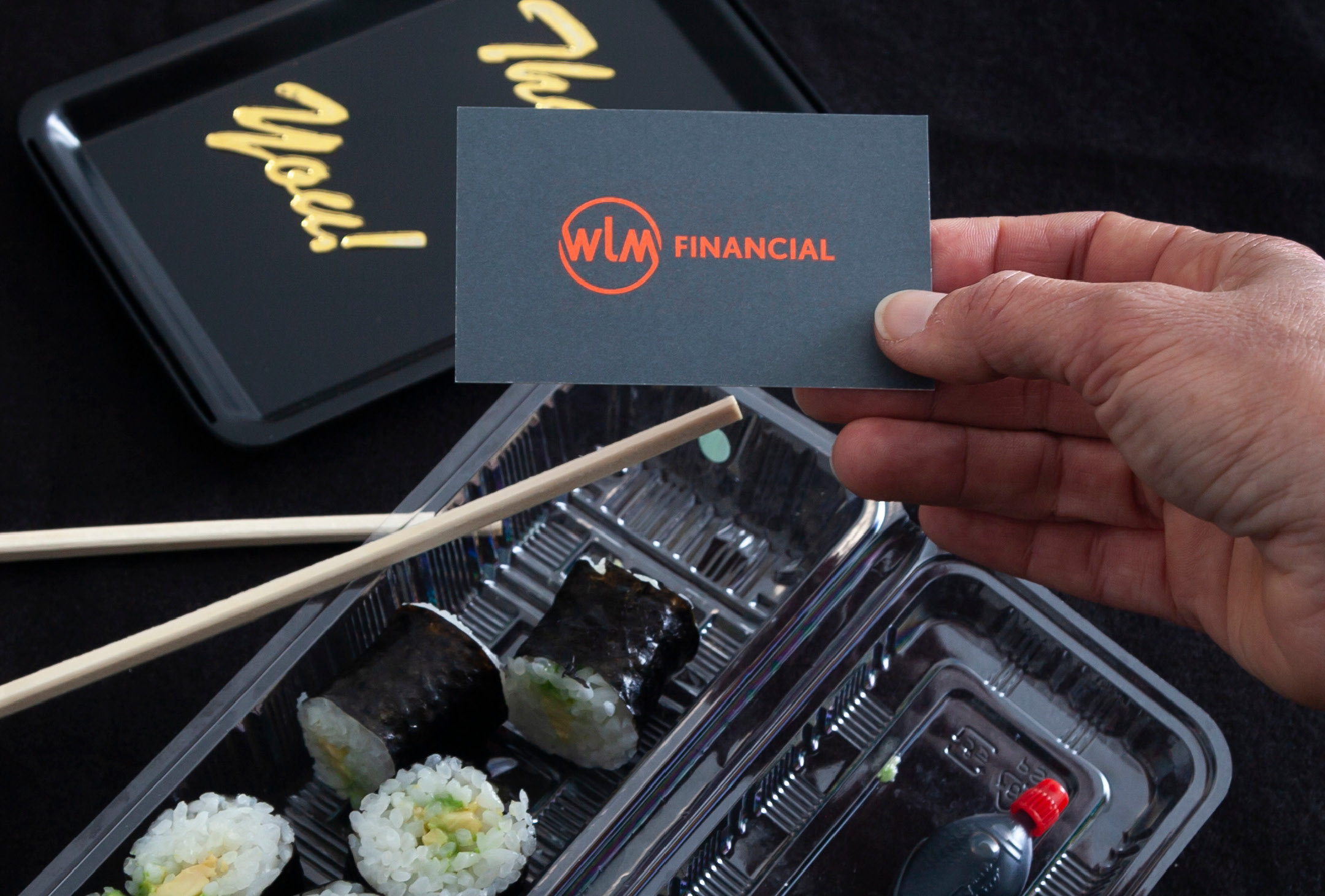 Business card design for WLM Financial